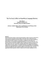 The Tea Party's Effect on Republican Campaign Rhetoric