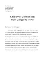 A History of German Film: From Caligari to Tykwer