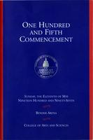 105th Commencement Program, College of Arts and Sciences, Spring 1997