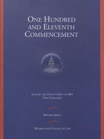 111th Commencement Program, Washington College of Law, Spring 2000