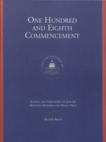 108th Commencement Program, American University, Winter 1999