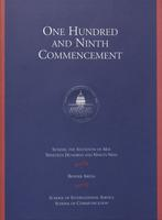109th Commencement Program, School of International Service and School of Communication, Spring 1999