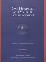 107th Commencement Program, School of Public Affairs and Kogod School of Business, Spring 1998