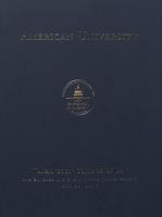 125th Commencement Program, Washington College of Law, Spring 2011