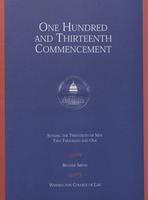 113th Commencement Program, Washington College of Law, Spring 2001