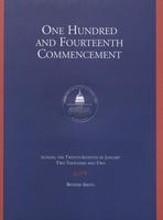 114th Commencement Program, American University, Winter 2002