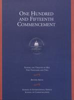 115th Commencement Program, School of International Service and School of Communication, Spring 2002
