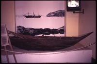 Indian canoe on display in Navy museum