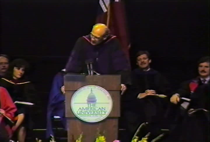 Alan K. Simpson Commencement Address, 89th Commencement, Kogod School of Business, School of International Service, and School of Public Affairs, Spring 1989