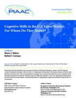 Cognitive Skills in the U.S. Labor Market: For Whom Do They Matter?