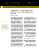 Are Teens in Low-Income and Welfare Families Working Too Much?