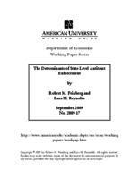 The Determinants of State-Level Antitrust Enforcement (Working Papers)