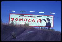1974 Anastasio Somoza Debayle Presidential election billboard on hill