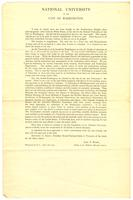 Announcement by John F. Hurst for solicitation of contributions, 1890 April 17