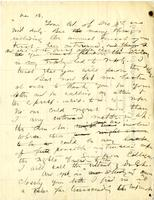 Draft letter to Francis Strickland from Franklin E. Hamilton, undated