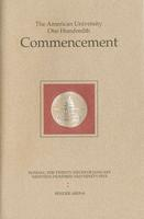 100th Commencement Program, American University, Winter 1995