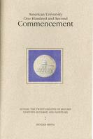 102nd Commencement Program, American University, Winter 1996