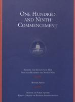 109th Commencement Program, School of Public Affairs and Kogod School of Business, Spring 1999