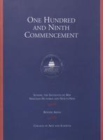 109th Commencement Program, College of Arts and Sciences, Spring 1999