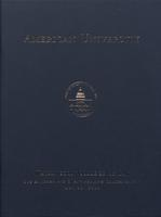 124th Commencement Program, Washington College of Law, Spring 2010