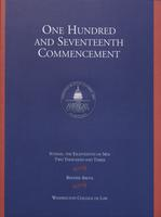 117th Commencement Program, Washington College of Law, Spring 2003