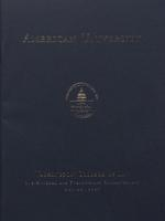 121st Commencement Program, Washington College of Law, Spring 2007