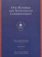 117th Commencement Program, Kogod School of Business and School of Communication, Spring 2003