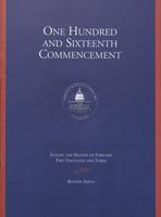 116th Commencement Program, American University, Winter 2003