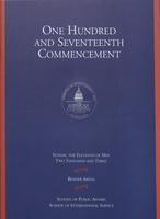 117th Commencement Program, School of Public Affairs and School of International Service, Spring 2003