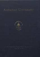 121st Commencement Program, American University, Spring 2007