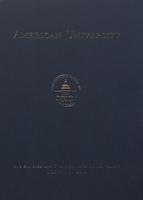 124th Commencement Program, American University, Spring 2010