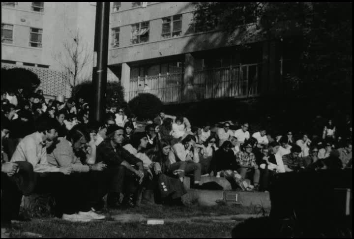 Concert held at American University during student protests in response to Kent State shootings, May 1970