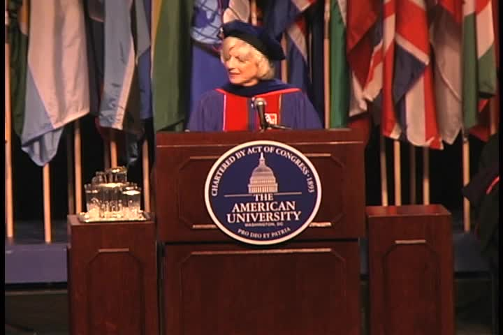 Diane Rehm Commencement Address, 121st Commencement, College of Arts and Sciences, Spring 2007
