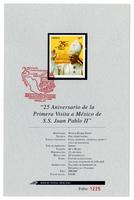 25th Anniversary of Pope John Paul II's first visit to Mexico