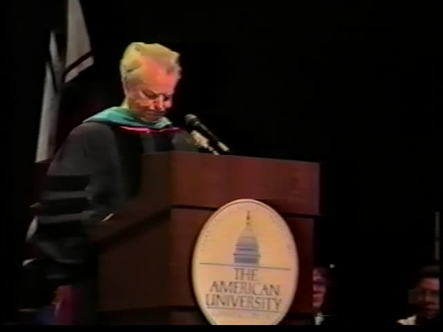 Robert C. Byrd Commencement Address, 87th Commencement, American University, Spring 1988
