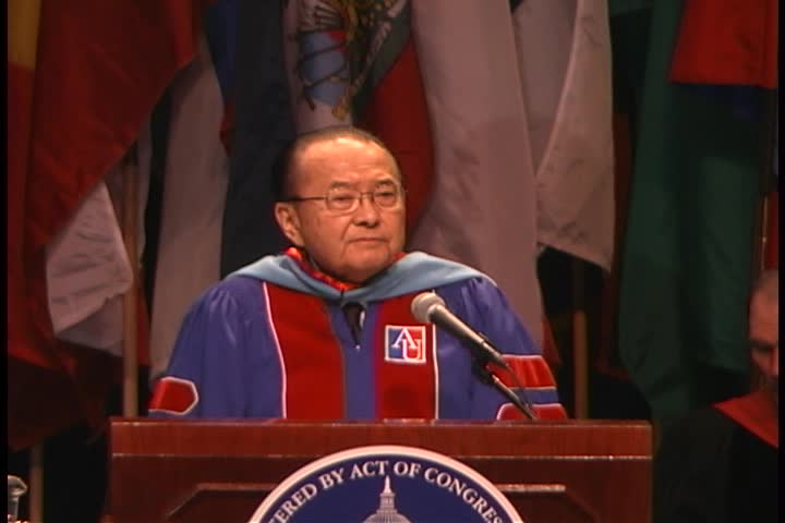 Daniel K. Inouye Commencement Address, 119th Commencement, School of Public Affairs and School of International Service, Spring 2005