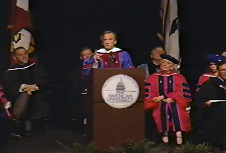 Elie Wiesel Commencement Address, 95th Commencement, College of Arts and Sciences, Spring 1992