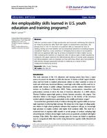 Are employability skills learned in U.S. youth education and training programs?