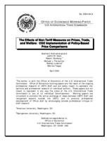 The Effects of Non-Tariff Measures on Prices, Trade, and Welfare: CGE Implementation of Policy-Based Price Comparisons (Working Paper)