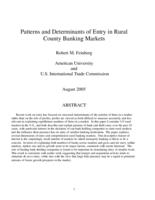 Patterns and Determinants of Entry in Rural County Banking Markets
