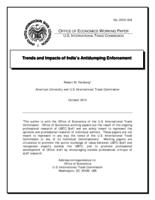 Trends and Impacts of India's Antidumping Enforcement (Working Paper)