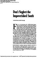 Don't Neglect the Impoverished South