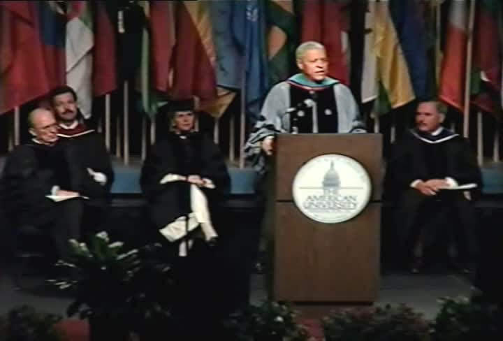 Clifton R. Wharton, Jr. Commencement Address, 97th Commencement, School of International Service, Spring 1993