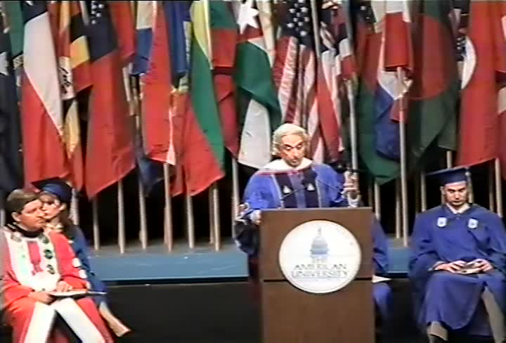 Charles E. Guggenheim Commencement Address, 101st Commencement, School of International Service and School of Communication, Spring 1995