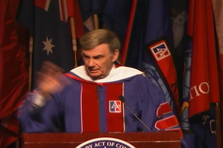 Sam Donaldson Commencement Address, 116th Commencement, American University, Winter 2003