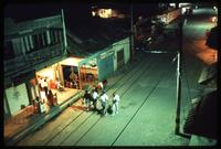 Aerial view of a store fronts along a street, Darien Gap, Panama
