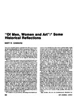 ''Of men, women and art'' (article)