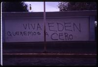 Graffiti on wall in support of Edén Pastora