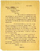 Letter from Chancellor Hamilton to Engineer Commissioner of the District of Columbia requesting a sewer link, 1913 June 10