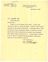 Letter from Congressman Marlon E. Olmsted to E.Z. Wallower, Esq., 1905 January 10